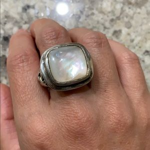 ROSS SIMONS sterling 925 mother of pearl ring